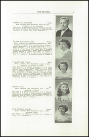 Page 11, 1950 Edition, Littleton High School - Record Yearbook (Littleton, NH) online yearbook collection
