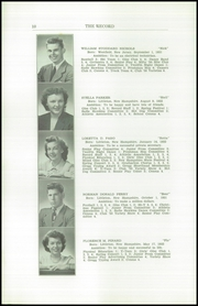 Page 12, 1950 Edition, Littleton High School - Record Yearbook (Littleton, NH) online yearbook collection