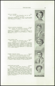 Page 15, 1950 Edition, Littleton High School - Record Yearbook (Littleton, NH) online yearbook collection