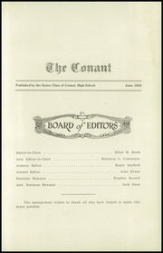 Page 9, 1923 Edition, Conant High School - Yearbook (Jaffrey, NH) online yearbook collection