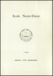 Page 3, 1952 Edition, Notre Dame High School - Yearbook (Berlin, NH) online yearbook collection