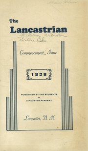 Page 1, 1936 Edition, Lancaster High School - Lancastrian Yearbook (Lancaster, NH) online yearbook collection
