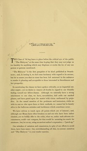 Page 11, 1884 Edition, Swarthmore College - Halcyon Yearbook (Swarthmore, PA) online yearbook collection