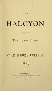 Page 9, 1884 Edition, Swarthmore College - Halcyon Yearbook (Swarthmore, PA) online yearbook collection