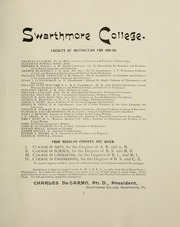 Page 9, 1893 Edition, Swarthmore College - Halcyon Yearbook (Swarthmore, PA) online yearbook collection