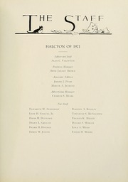 Page 13, 1921 Edition, Swarthmore College - Halcyon Yearbook (Swarthmore, PA) online yearbook collection