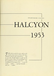 Page 7, 1953 Edition, Swarthmore College - Halcyon Yearbook (Swarthmore, PA) online yearbook collection