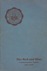 Page 1, 1938 Edition, St Josephs High School - Red and Blue Yearbook (Manchester, NH) online yearbook collection