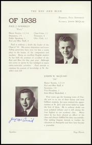 Page 13, 1938 Edition, St Josephs High School - Red and Blue Yearbook (Manchester, NH) online yearbook collection