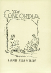 Page 5, 1947 Edition, Kimball Union Academy - Concordia Yearbook (Meriden, NH) online yearbook collection