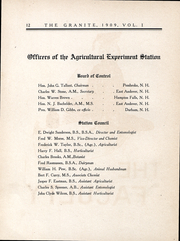 Page 13, 1909 Edition, University of New Hampshire - Granite Yearbook (Durham, NH) online yearbook collection