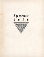 Page 2, 1909 Edition, University of New Hampshire - Granite Yearbook (Durham, NH) online yearbook collection