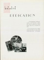 Page 12, 1939 Edition, University of New Hampshire - Granite Yearbook (Durham, NH) online yearbook collection