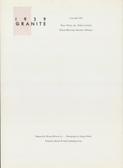 Page 6, 1939 Edition, University of New Hampshire - Granite Yearbook (Durham, NH) online yearbook collection
