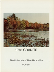 Page 5, 1972 Edition, University of New Hampshire - Granite Yearbook (Durham, NH) online yearbook collection