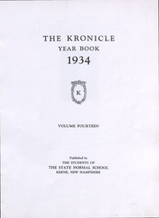 Page 3, 1934 Edition, Keene State College - Kronicle Yearbook (Keene, NH) online yearbook collection