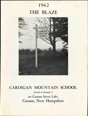 Page 15, 1962 Edition, Cardigan Mountain School - Blaze Yearbook (Canaan, NH) online yearbook collection