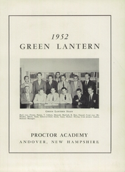 Page 5, 1952 Edition, Proctor Academy - Green Lantern Yearbook (Andover, NH) online yearbook collection