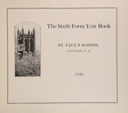 Page 7, 1930 Edition, St Pauls School - Sixth Form Yearbook (Concord, NH) online yearbook collection