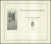 Page 7, 1932 Edition, St Pauls School - Sixth Form Yearbook (Concord, NH) online yearbook collection