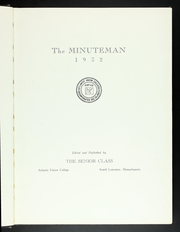 Page 7, 1932 Edition, Atlantic Union College - Minuteman Yearbook (South Lancaster, MA) online yearbook collection