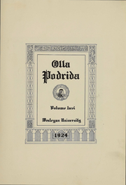 Page 3, 1924 Edition, Wesleyan University - Olla Podrida Yearbook (Middletown, CT) online yearbook collection