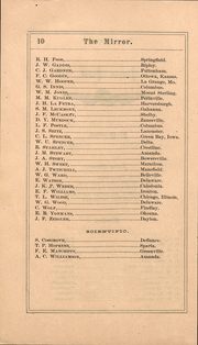 Page 10, 1871 Edition, Ohio Wesleyan University - Le Bijou Yearbook (Delaware, OH) online yearbook collection