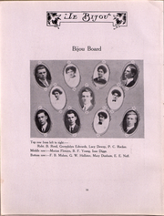 Page 16, 1912 Edition, Ohio Wesleyan University - Le Bijou Yearbook (Delaware, OH) online yearbook collection