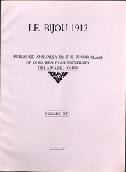 Page 3, 1912 Edition, Ohio Wesleyan University - Le Bijou Yearbook (Delaware, OH) online yearbook collection