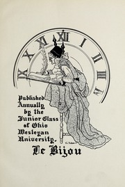 Page 9, 1923 Edition, Ohio Wesleyan University - Le Bijou Yearbook (Delaware, OH) online yearbook collection