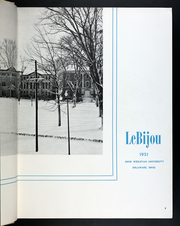 Page 7, 1951 Edition, Ohio Wesleyan University - Le Bijou Yearbook (Delaware, OH) online yearbook collection