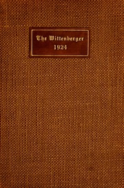 Page 1, 1924 Edition, Wittenberg University - Witt Yearbook (Springfield, OH) online yearbook collection