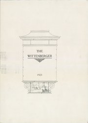 Page 7, 1925 Edition, Wittenberg University - Witt Yearbook (Springfield, OH) online yearbook collection