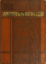 Page 1, 1932 Edition, Wittenberg University - Witt Yearbook (Springfield, OH) online yearbook collection
