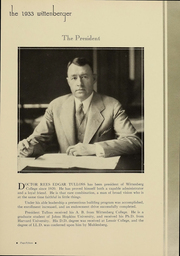 Page 15, 1933 Edition, Wittenberg University - Witt Yearbook (Springfield, OH) online yearbook collection