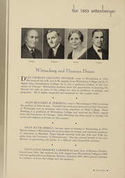 Page 16, 1933 Edition, Wittenberg University - Witt Yearbook (Springfield, OH) online yearbook collection