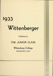 Page 4, 1933 Edition, Wittenberg University - Witt Yearbook (Springfield, OH) online yearbook collection