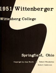 Page 5, 1951 Edition, Wittenberg University - Witt Yearbook (Springfield, OH) online yearbook collection