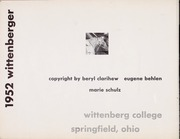 Page 6, 1952 Edition, Wittenberg University - Witt Yearbook (Springfield, OH) online yearbook collection