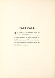 Page 10, 1937 Edition, University of Akron - Tel Buch Yearbook (Akron, OH) online yearbook collection