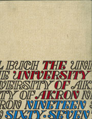 Page 1, 1967 Edition, University of Akron - Tel Buch Yearbook (Akron, OH) online yearbook collection