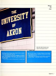 Page 11, 1986 Edition, University of Akron - Tel Buch Yearbook (Akron, OH) online yearbook collection