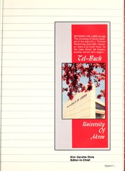 Page 5, 1986 Edition, University of Akron - Tel Buch Yearbook (Akron, OH) online yearbook collection