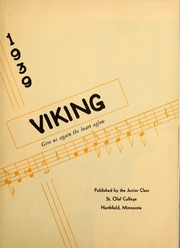 Page 7, 1939 Edition, St Olaf College - Viking Yearbook (Northfield, MN) online yearbook collection
