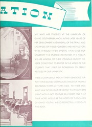 Page 9, 1938 Edition, Idaho State University - Wickiup Yearbook (Pocatello, ID) online yearbook collection