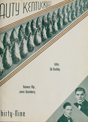 Page 7, 1939 Edition, University of Kentucky - Kentuckian Yearbook (Lexington, KY) online yearbook collection