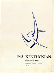 Page 3, 1965 Edition, University of Kentucky - Kentuckian Yearbook (Lexington, KY) online yearbook collection