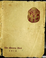 1919 Edition, Morristown High School - Cobbonian Yearbook (Morristown, NJ)