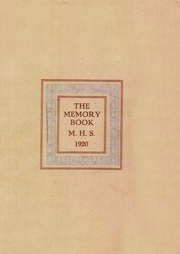 1920 Edition, Morristown High School - Cobbonian Yearbook (Morristown, NJ)