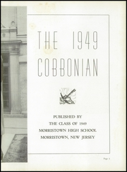 Page 7, 1949 Edition, Morristown High School - Cobbonian Yearbook (Morristown, NJ) online yearbook collection